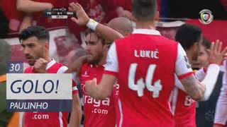 GOLO! SC Braga, Paulinho aos 30', CD Feirense 0-1 SC Braga