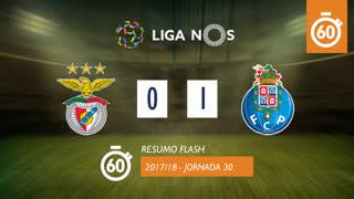 Liga NOS (30ªJ): Resumo Flash SL Benfica 0-1 FC Porto