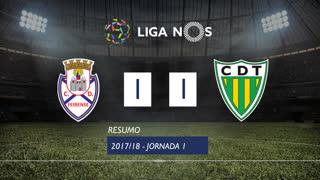 Liga NOS (1ªJ): Resumo CD Feirense 1-1 CD Tondela