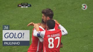 GOLO! SC Braga, Paulinho aos 36', SC Braga 2-0 CD Feirense