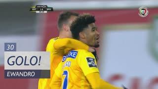 GOLO! Estoril Praia, Ewandro aos 30', Estoril Praia 2-0 Sporting CP