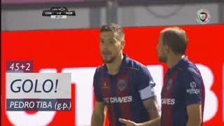 GOLO! GD Chaves, Pedro Tiba aos 45'+2', GD Chaves 1-0 Moreirense FC