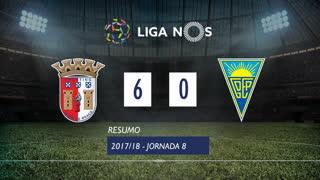 Liga NOS (8ªJ): Resumo SC Braga 6-0 Estoril Praia
