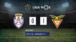 Liga NOS (13ªJ): Resumo CD Feirense 0-1 CD Aves