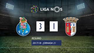 Liga NOS (21ªJ): Resumo FC Porto 3-1 SC Braga