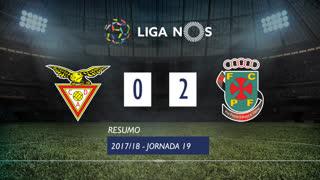 Liga NOS (19ªJ): Resumo CD Aves 0-2 FC P.Ferreira
