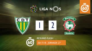 Liga NOS (27ªJ): Resumo Flash CD Tondela 1-2 Marítimo M.