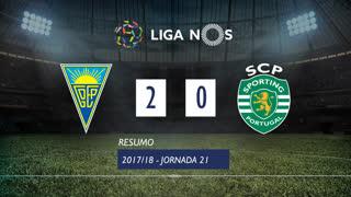 Liga NOS (21ªJ): Resumo Estoril Praia 2-0 Sporting CP