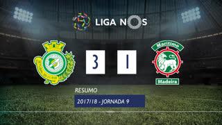 Liga NOS (9ªJ): Resumo Vitória FC 3-1 Marítimo M.