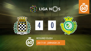 Liga NOS (24ªJ): Resumo Flash Boavista FC 4-0 Vitória FC