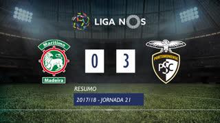 Liga NOS (21ªJ): Resumo Marítimo M. 0-3 Portimonense