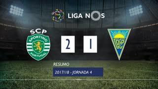 Liga NOS (4ªJ): Resumo Sporting CP 2-1 Estoril Praia