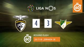 Liga NOS (28ªJ): Resumo Flash Portimonense 4-3 Moreirense FC
