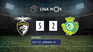Liga NOS (10ªJ): Resumo Portimonense 5-2 Vitória FC