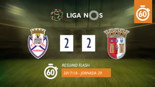 Liga NOS (29ªJ): Resumo Flash CD Feirense 2-2 SC Braga