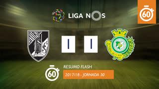 Liga NOS (30ªJ): Resumo Flash Vitória SC 1-1 Vitória FC