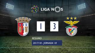 Liga NOS (18ªJ): Resumo SC Braga 1-3 SL Benfica