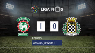 I Liga (3ªJ): Resumo Marítimo M. 1-0 Boavista FC