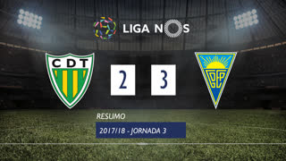 Liga NOS (3ªJ): Resumo CD Tondela 2-3 Estoril Praia