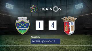 Liga NOS (27ªJ): Resumo GD Chaves 1-4 SC Braga