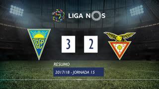 Liga NOS (15ªJ): Resumo Estoril Praia 3-2 CD Aves