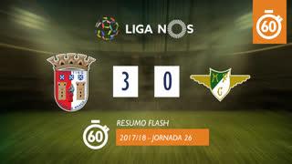Liga NOS (26ªJ): Resumo Flash SC Braga 3-0 Moreirense FC
