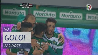GOLO! Sporting CP, Bas Dost aos 90', Sporting CP 3-0 CD Aves