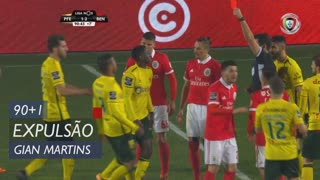 FC P.Ferreira, Expulsão, Gian Martins aos 90'+1'
