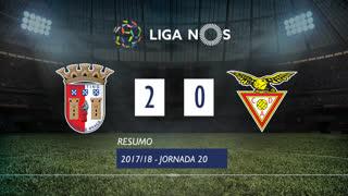 Liga NOS (20ªJ): Resumo SC Braga 2-0 CD Aves