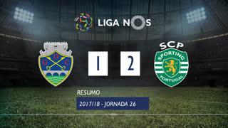 Liga NOS (26ªJ): Resumo GD Chaves 1-2 Sporting CP