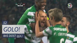 GOLO! Sporting CP, Bas Dost aos 52', Sporting CP 2-0 CD Aves