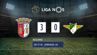 Liga NOS (26ªJ): Resumo SC Braga 3-0 Moreirense FC