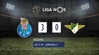 Liga NOS (3ªJ): Resumo FC Porto 3-0 Moreirense FC