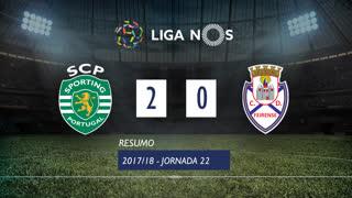 Liga NOS (22ªJ): Resumo Sporting CP 2-0 CD Feirense