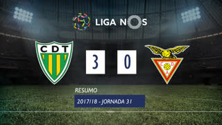 Liga NOS (31ªJ): Resumo CD Tondela 3-0 CD Aves