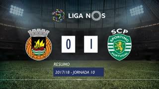 Liga NOS (10ªJ): Resumo Rio Ave FC 0-1 Sporting CP