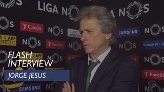 Liga (30ª): Flash interview Jorge Jesus