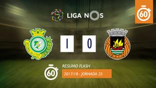 Liga NOS (25ªJ): Resumo Flash Vitória FC 1-0 Rio Ave FC