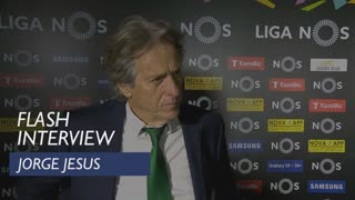 Liga (28ª): Flash interview Jorge Jesus