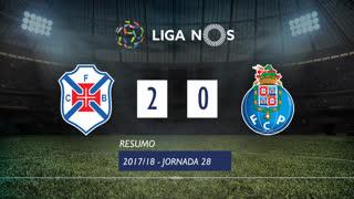 Liga NOS (28ªJ): Resumo Os Belenenses 2-0 FC Porto