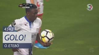 GOLO! CD Feirense, O. Etebo aos 45'+2', SC Braga 3-1 CD Feirense