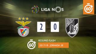 Liga NOS (28ªJ): Resumo Flash SL Benfica 2-0 Vitória SC