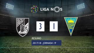 Liga NOS (19ªJ): Resumo Vitória SC 3-1 Estoril Praia