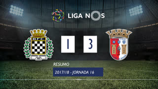 Liga NOS (16ªJ): Resumo Boavista FC 1-3 SC Braga