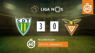 Liga NOS (31ªJ): Resumo Flash CD Tondela 3-0 CD Aves
