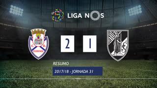 Liga NOS (31ªJ): Resumo CD Feirense 2-1 Vitória SC