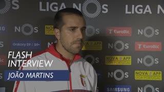 Liga (28ª): Flash interview João Martins