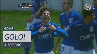 GOLO! CD Feirense, A. Briseño  aos 90'+2', CD Feirense 2-2 SC Braga