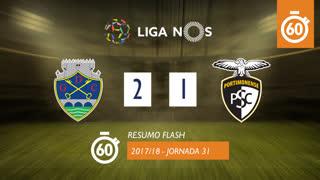 Liga NOS (31ªJ): Resumo Flash GD Chaves 2-1 Portimonense
