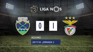 Liga NOS (2ªJ): Resumo GD Chaves 0-1 SL Benfica